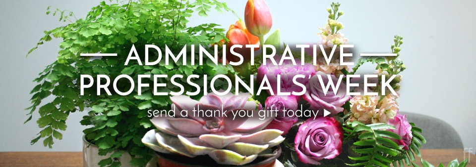Celebrate Admin Professionals all week long between April 23rd- 27th with flowers, plants, and gifts!