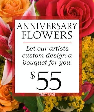 Custom Design Anniversary Bouquet $55