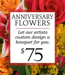 Custom Design Anniversary Bouquet $75