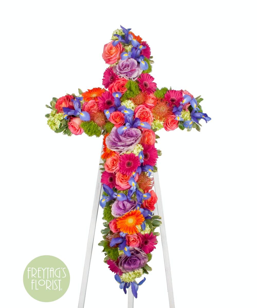 Funeral Flowers Austin Tx Monets Garden Flower Cross