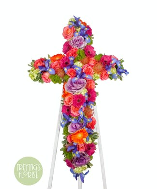 Monet's Garden Flower Cross