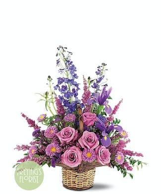 A Lavender & Blue Basket