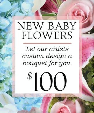 Custom Design New Baby Bouquet $100