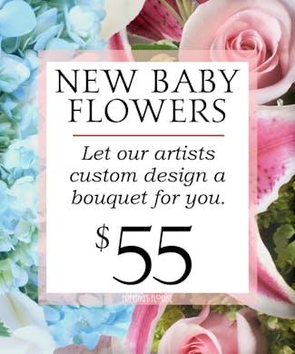 Custom Design New Baby Bouquet $55