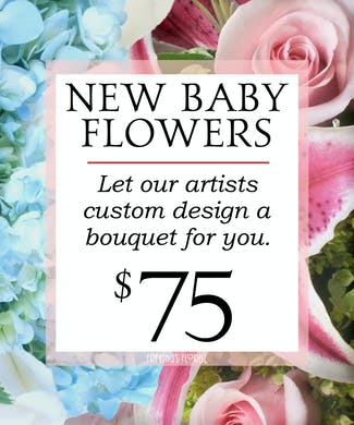 Custom Design New Baby Bouquet $75