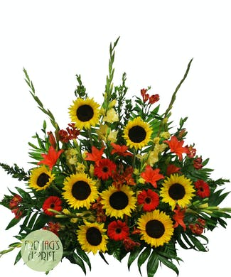 Sunflower Fireside Basket