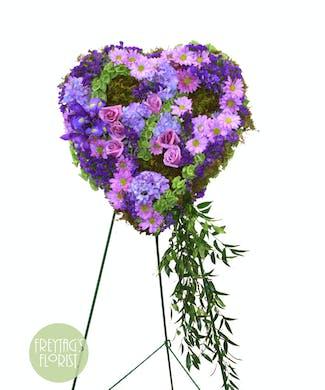 Purple Patchwork Sympathy Heart