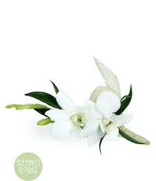 Elegant Orchid Boutonniere